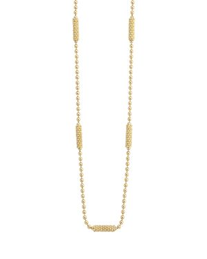 Lagos 18K Gold Beaded Necklace, 16