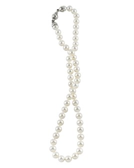 """LAGOS - Sterling Silver Luna Pearl Necklace, 18"""""""
