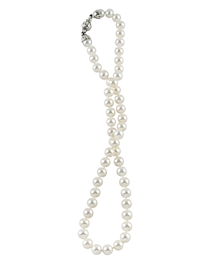 Lagos Sterling Silver Luna Pearl Necklace, 18