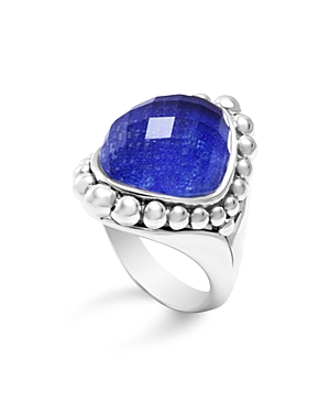 Lagos Sterling Silver Maya Doublet Dome Ring with Lapis