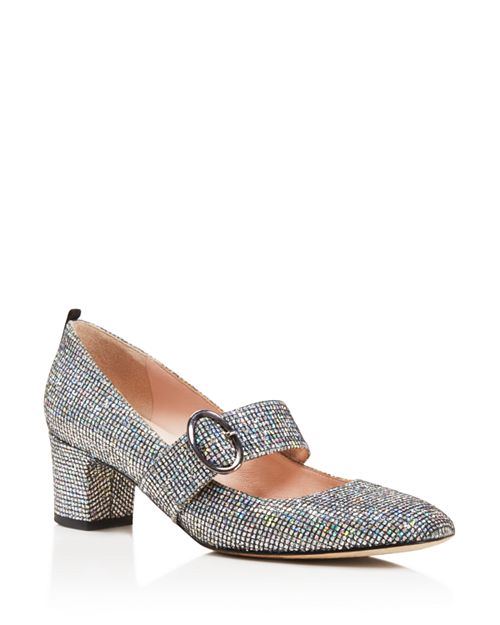 SJP by Sarah Jessica Parker - Women's Tartt Metallic Mary Jane Mid Heel Pumps