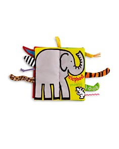Jellycat - Jungly Tails Fabric Book - Ages 0+