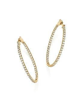 Bloomingdale's - Diamond Inside Out Hoop Earrings in 14K Yellow Gold, 2.0 ct. t.w.- 100% Exclusive