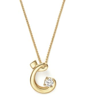Diamond Initial Pendant Necklace in 18K Yellow Gold, 18 - 100% Exclusive
