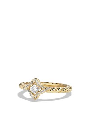 DAVID YURMAN VENETIAN QUATREFOIL RING WITH DIAMONDS IN 18K GOLD