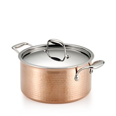 Lagostina Martellata Tri-Ply Hammered Copper 5-Quart Covered Stewpot - Bloomingdale's_0