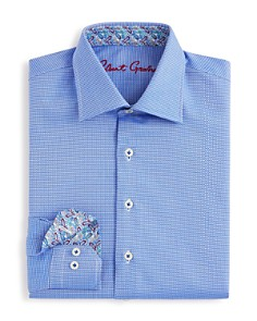 Robert Graham - Boys' Joy Neat Textured Dress Shirt - Big Kid