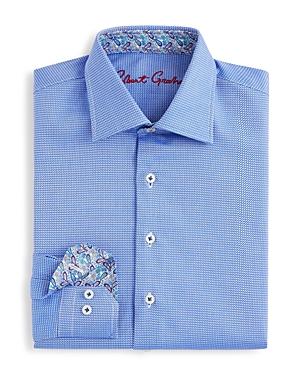 Robert Graham Boys Joy Neat Texture Dress Shirt  Sizes Sxl