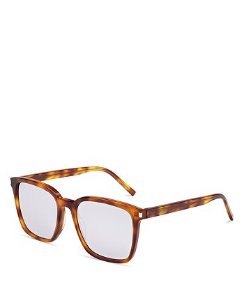 Saint Laurent - Women's Mirrored Oversized Square Sunglasses, 52mm