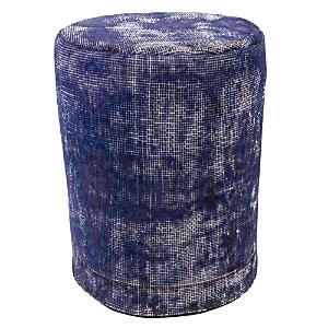 Bloomingdale's Vintage Carpet Ottoman, Purple
