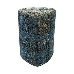 Bloomingdale's Vintage Carpet Ottoman, Denim