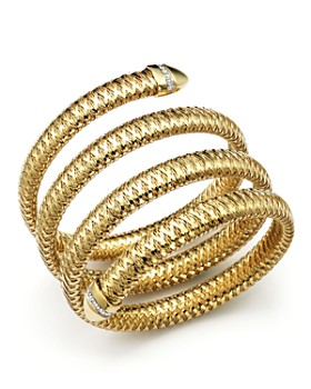 Roberto Coin Primavera 18k Yellow And White Gold Flex Diamond Bracelet