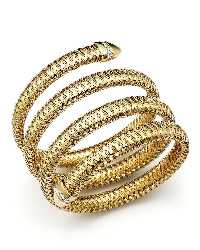 Roberto Coin - Primavera 18K Yellow and White Gold Primavera Flex Diamond Bracelet