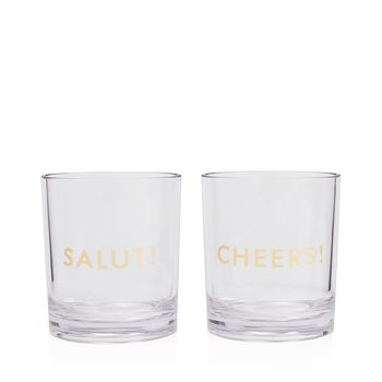 kate spade new york - Raise a Glass Here's To You Drinkware Set, Salut! & Cheers