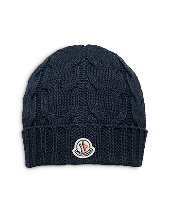 afba2cf5b41 Moncler - Boys  Cable Knit Beanie Hat