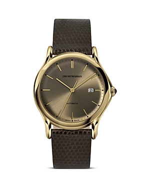 Emporio Armani Swiss Made Light Gold Ion Plated Stainless Steel Watch, 42mm