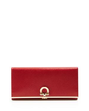 Salvatore Ferragamo Gancini Icona Saffiano Leather Continental Wallet 2513783