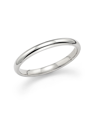 Polished Comfort Feel Wedding Ring in 14K White Gold - 100% Exclusive