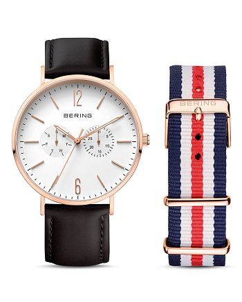 Bering - Classic Watch, 40mm & Strap Set