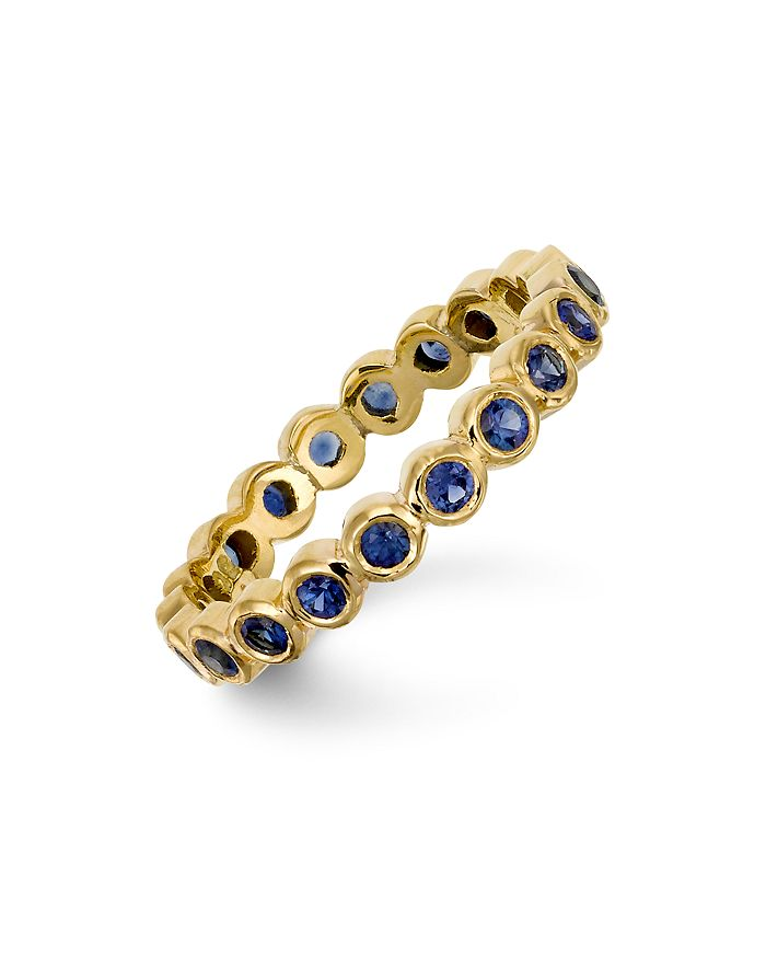 Temple St. Clair - 18K Gold Eternity Ring with Blue Sapphires