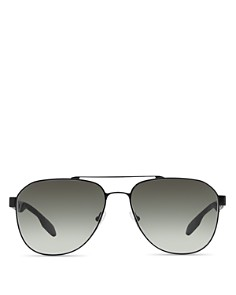 Prada - Men's Punched Aviator Sunglasses, 60mm