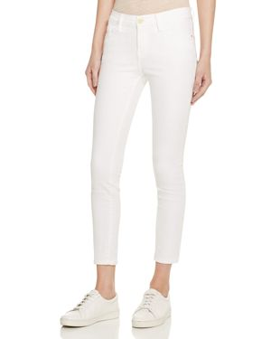 Frame Le Color Crop Jeans in Blanc