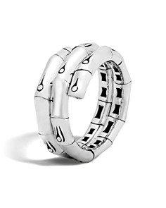 John Hardy Sterling Silver Bamboo Double Coil Ring - Bloomingdale's_0