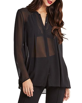 BCBGeneration - Sheer Box Pleat Shirt