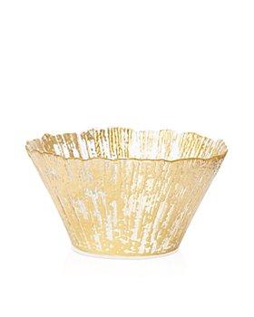 VIETRI - Rufolo Glass Gold Small Deep Bowl