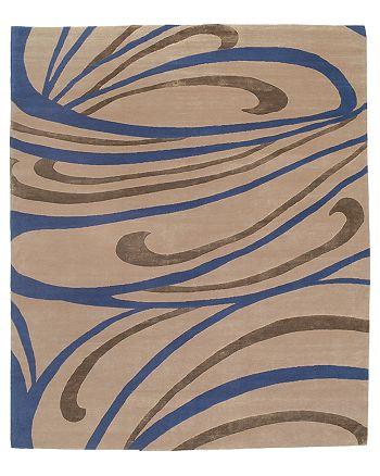 "Tufenkian Artisan Carpets - Peacock Indigo Area Rug, 8'9"" x 11'6"""