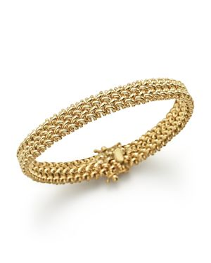 14K Yellow Gold Crisscross Bracelet - 100% Exclusive