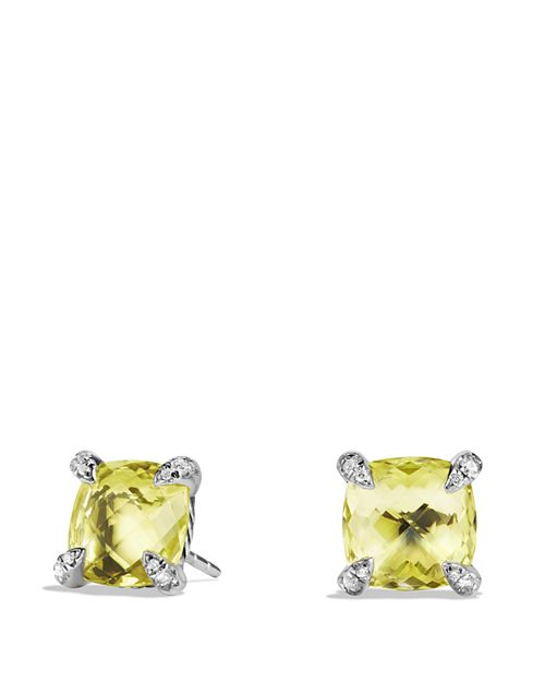 David Yurman Ch Acirc Telaine Earrings With Lemon Citrine And Diamonds