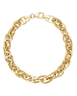 14K Yellow Gold Oval Links Chain Bracelet - 100% Exclusive