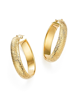 14K Yellow Gold Medium Tube Hoop Earrings - 100% Exclusive