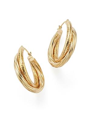 14K Yellow Gold Double Hoop Earrings - 100% Exclusive