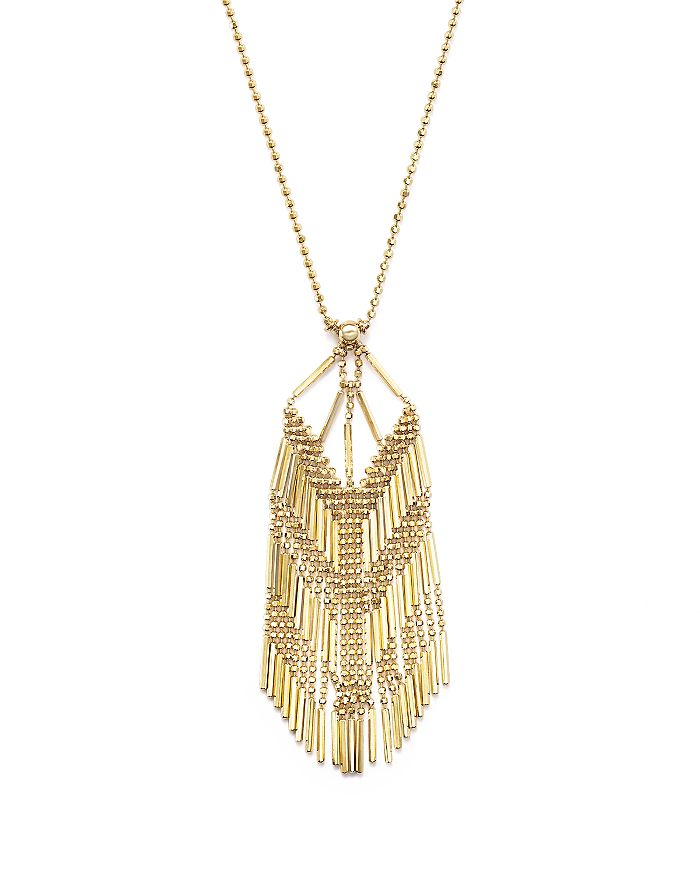 """Bloomingdale's - 14K Yellow Gold Beaded Dangle Chain Necklace, 17"""" - 100% Exclusive"""