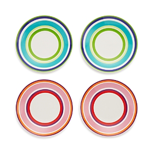 kate spade new york Wickford Stripe Tidbit Plates Set of 4  100 Exclusive