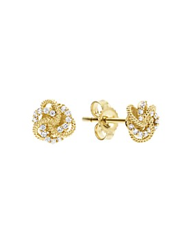 796bf219980c LAGOS - 18K Gold Love Knot Stud Earrings with Diamonds ...
