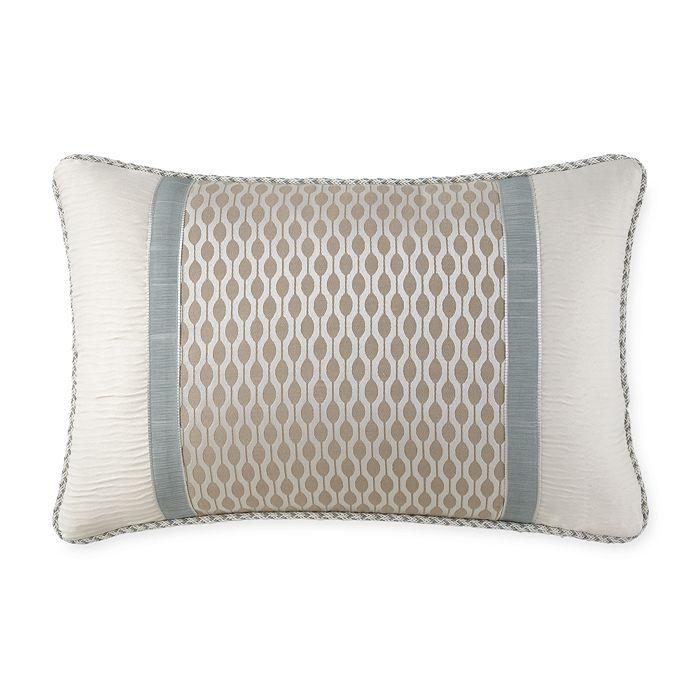 """Waterford - Jonet Pieced Decorative Pillow, 18"""" x 12"""""""