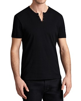 John Varvatos Star USA - Grommet V-Neck Tee