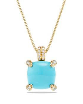 David Yurman - 18K Gold Châtelaine Pendant Necklace with Gems & Diamonds
