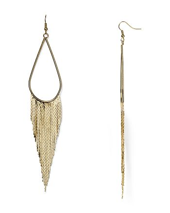AQUA - Antonia Fringe Teardrop Earrings - 100% Exclusive