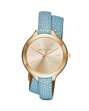 Michael Kors Runway Leather Strap Watch, 42mm