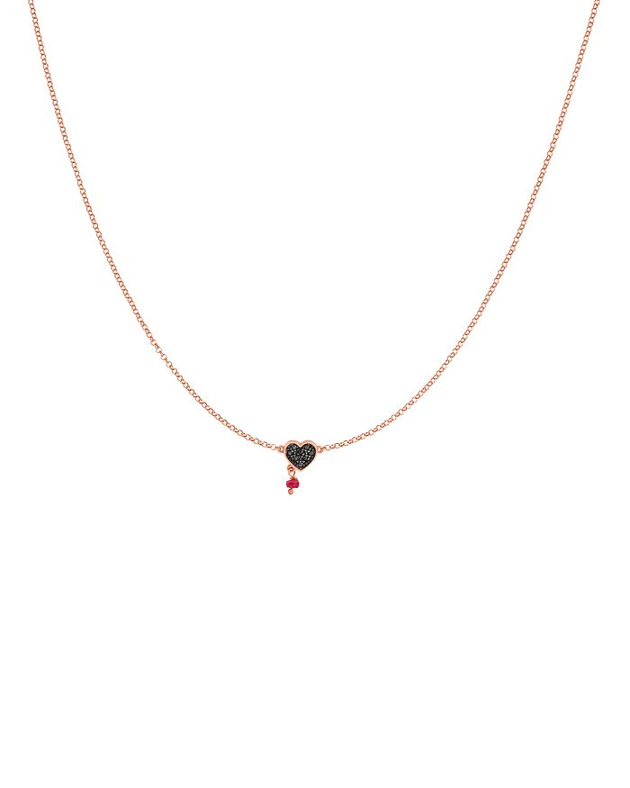 """TOUS - Spinel & Ruby Necklace, 17.7"""""""
