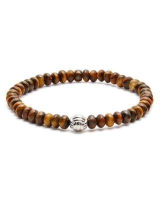 BABETTE WASSERMAN Stone Monkey Bead Bracelet in Tigers Eye