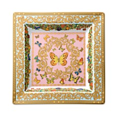 """Rosenthal Meets Versace """"Butterfly Garden"""" 8.5"""" Square Tray - Bloomingdale's Registry_0"""
