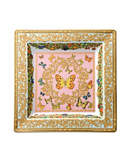 """Versace - Butterfly Garden 8.5"""" Square Tray"""