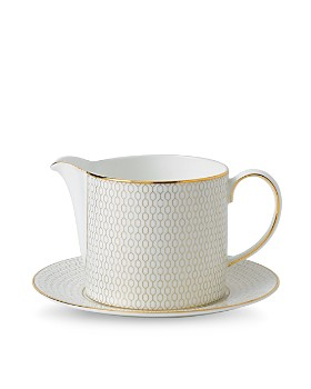 Wedgwood - Arris Sauce Jug and Saucer