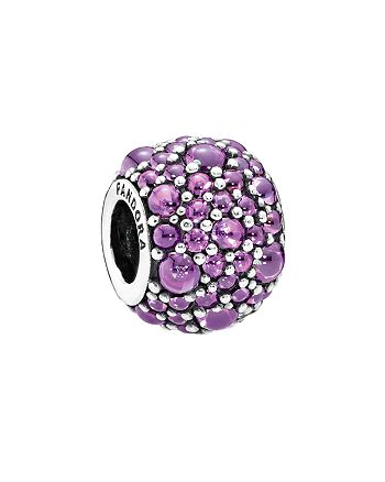 PANDORA - Charm - Sterling Silver & Cubic Zirconia Purple Shimmer Droplets, Moments Collection