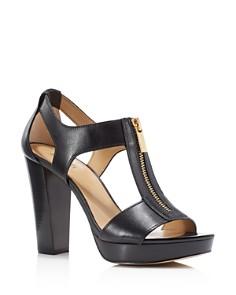 MICHAEL Michael Kors - Women's Berkley Zipper Platform High-Heel Sandals